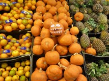 Fruit stall in peruvian grocery shop